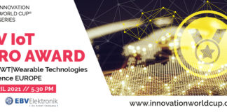 4th EBV IOT HERO special prize 12 IOT/WT Innovation World Cup finals at 37th WT Wearable Technologies Conference EUROPE top4 european startups
