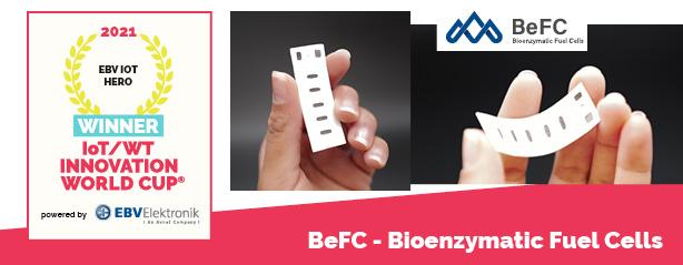 BeFC - Bioenzymatic Fuel Cells winner 4 EBV IOT HERO 2021